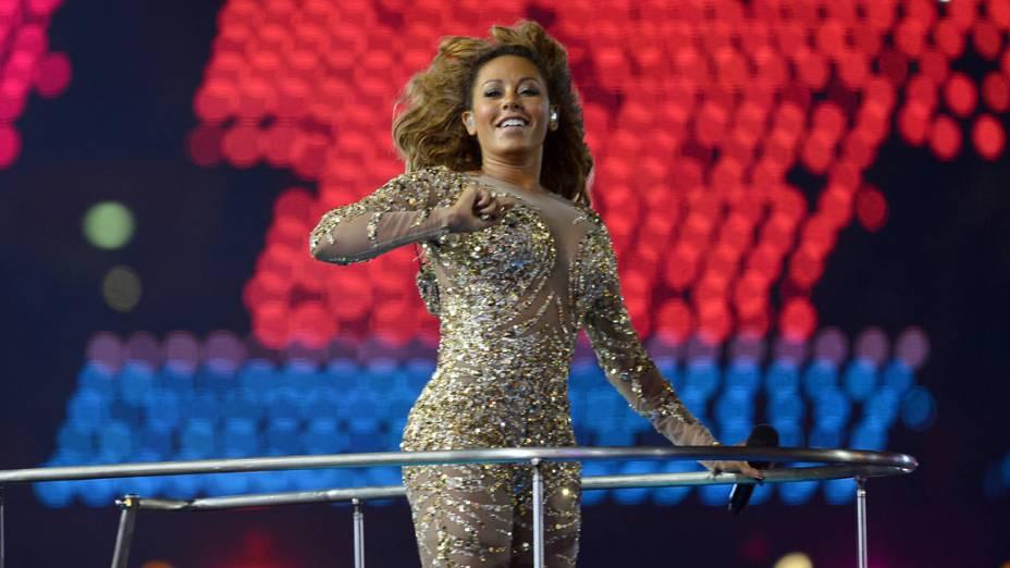 Melanie Brown na festa de encerramento dos Jogos Olímpicos de Londres