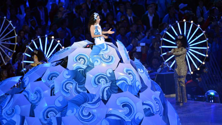Marisa Monte na festa de encerramento dos Jogos Olímpicos de Londres, em 12/08/2012