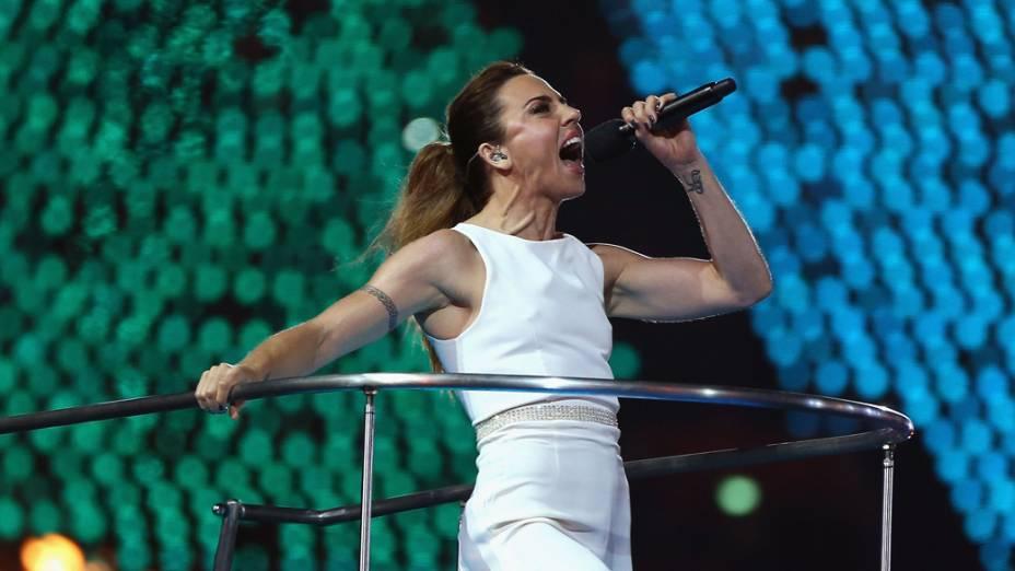 Melanie Chisholm na festa de encerramento dos Jogos Olímpicos de Londres, em 12/08/2012