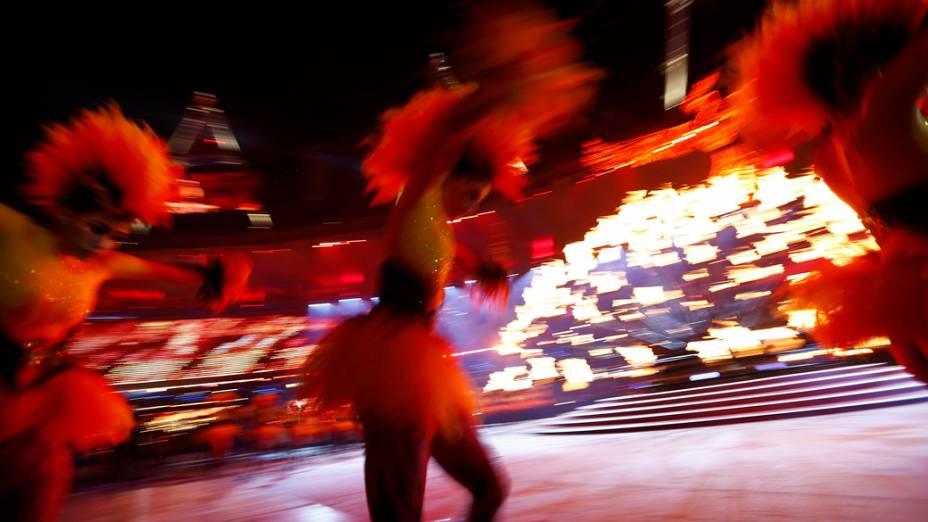 Festa de encerramento dos Jogos Olímpicos de Londres, em 12/11/2012