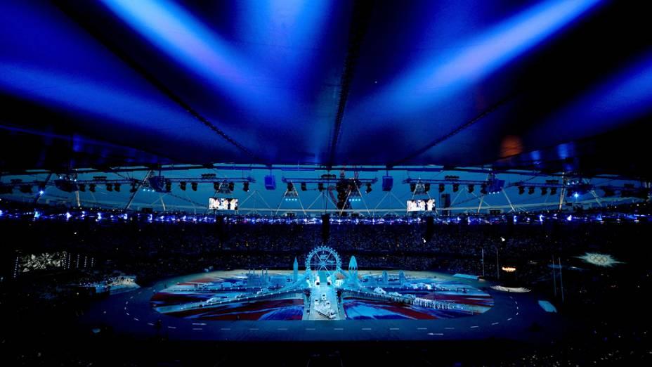 Vista geral do estádio da cerimônia de encerramento da Olimpíada de Londres, em 12/08/2012