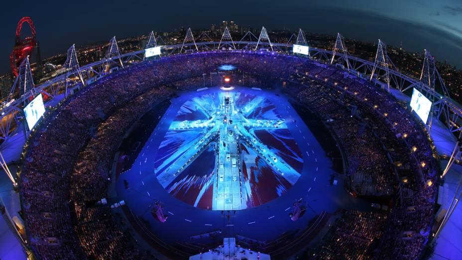 Encerramento dos Jogos Olímpicos de Londres, em 12/08/2012
