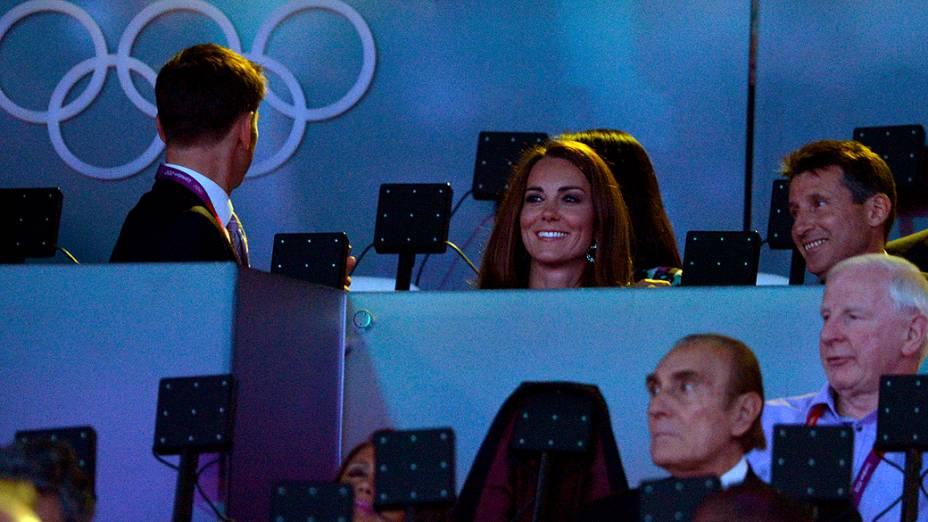Kate Middleton na festa de encerramento dos Jogos Olímpicos de Londres, em 12/08/2012