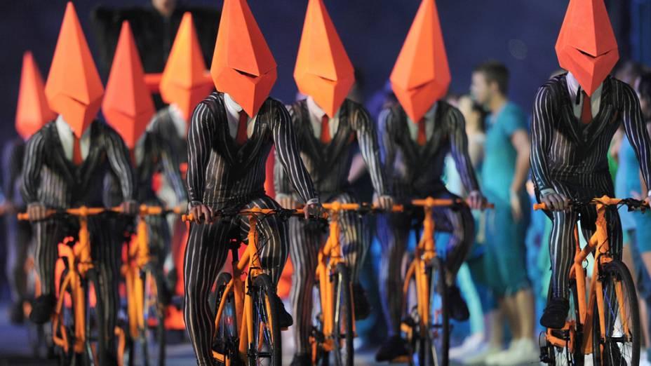 Festa de encerramento dos Jogos Olímpicos de Londres, em 12/08/2012