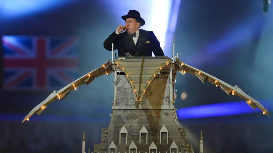 Timothy Spall na cerimônia de encerramento da Olímpiada de Londres 2012