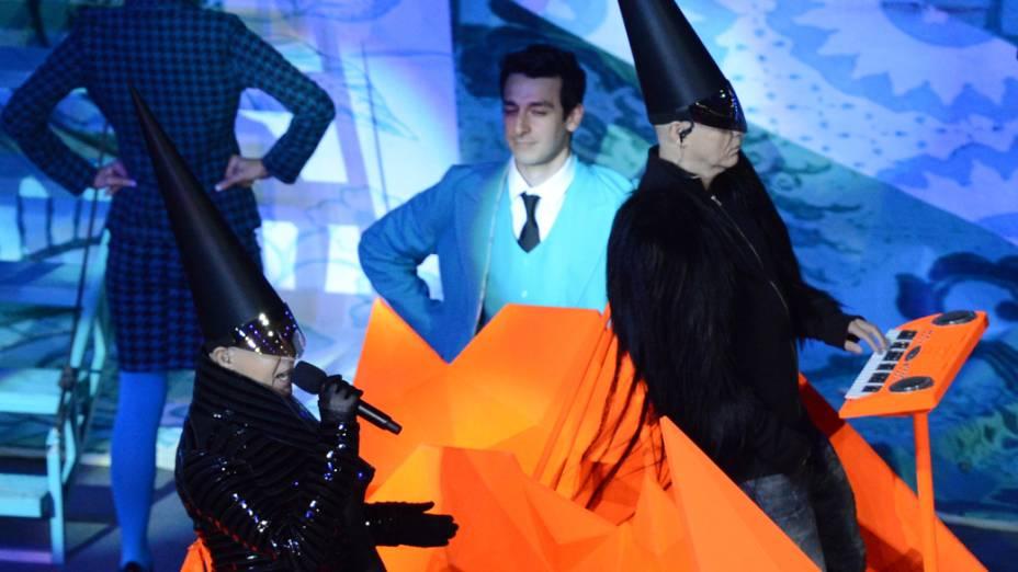Pet Shop Boys na festa de encerramento dos Jogos Olímpicos de Londres