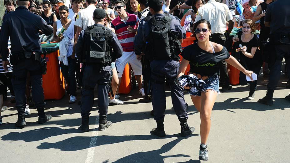 Público na abertura dos portões no segundo dia do Rock in Rio 2013