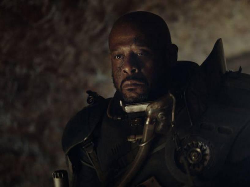 O ator Forest Whitaker em cena do filme Star Wars: Rogue One