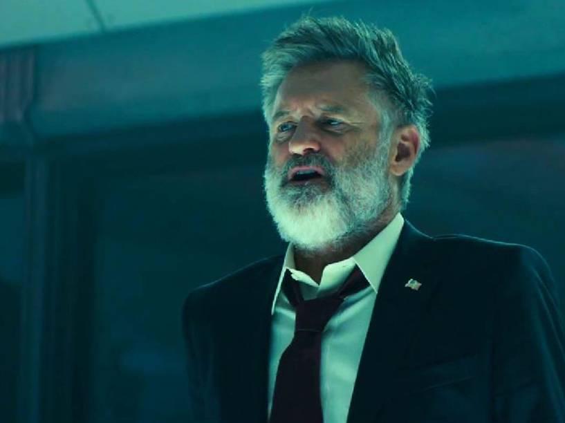 O ator Bill Pullman em cena do filme Independence Day - O Ressurgimento