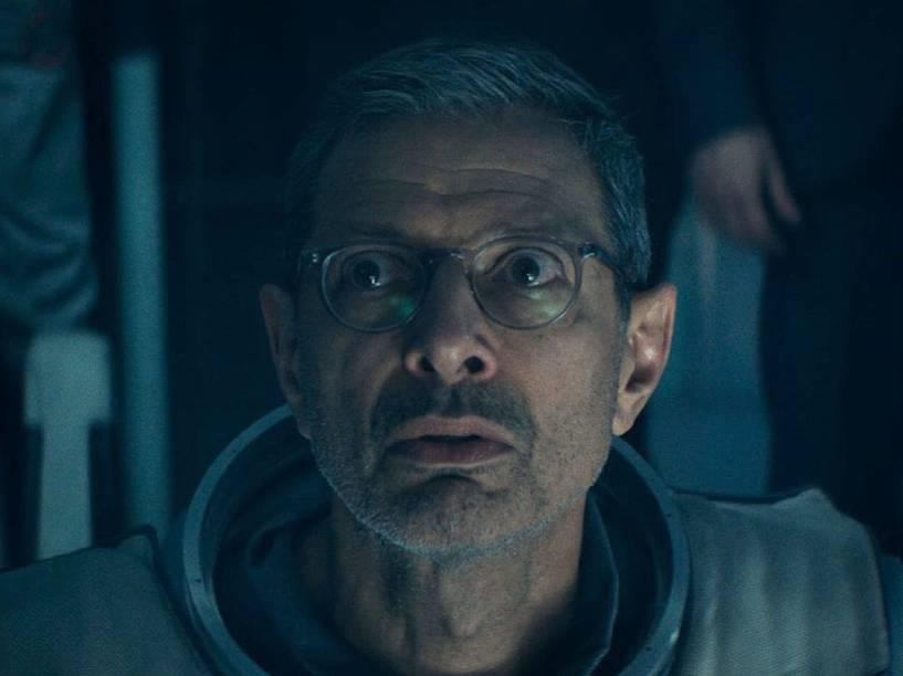 O ator Jeff Goldblum em cena do filme Independence Day - O Ressurgimento