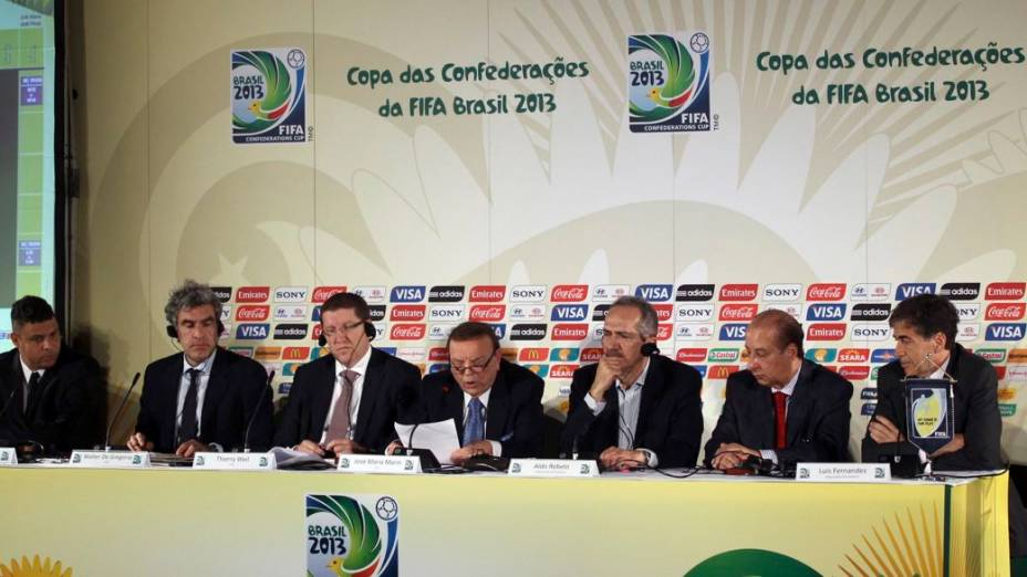 Anúncio das sedes da Copa das Confederações, em São Paulo