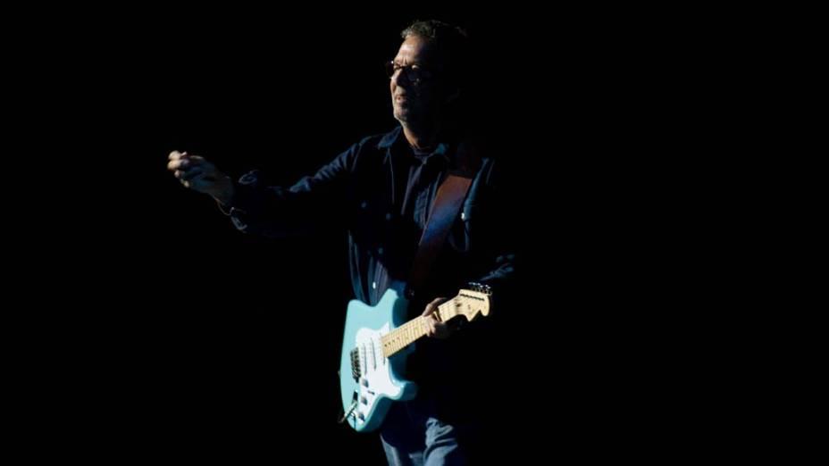Eric Clapton durante show em São Paulo, em 12/10/2011