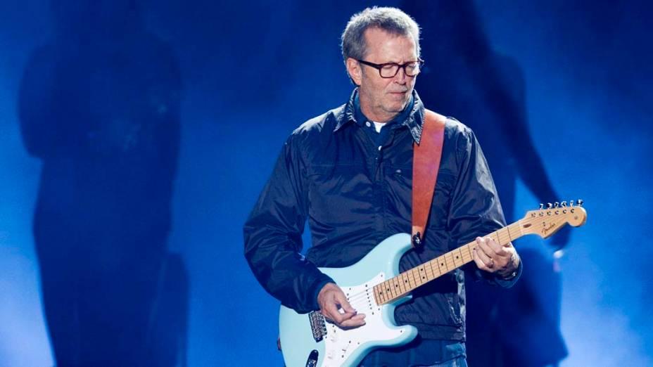 Eric Clapton durante show em Porto Alegre, em 06/10/2011