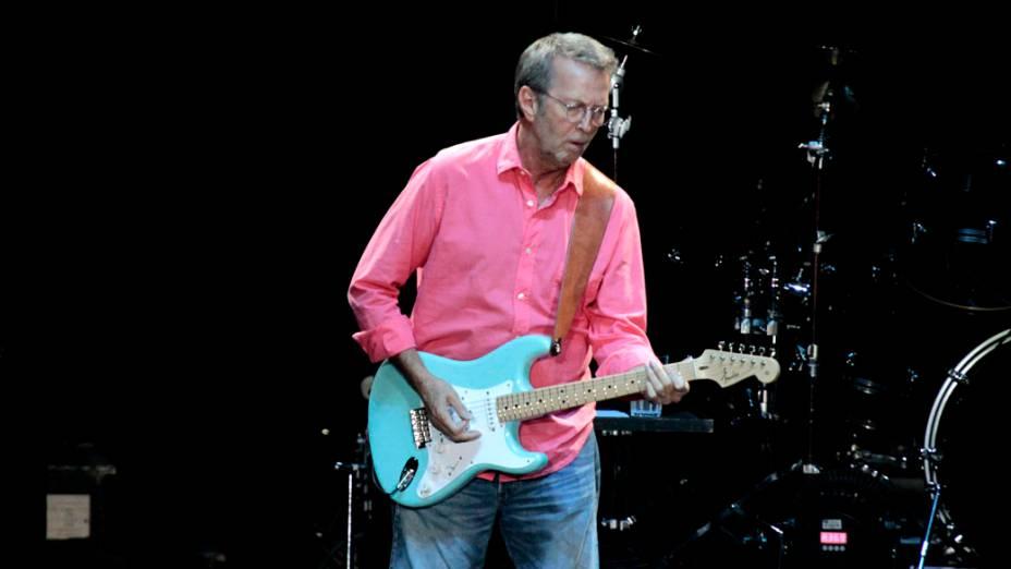 Eric Clapton durante show no Rio de Janeiro, em 10/10/2011