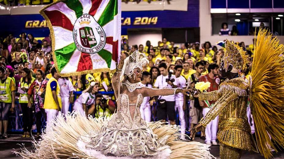 Grande Rio, durante Desfiles das Escolas de Sambas do Grupo Especial do Carnaval do Rio de Janeiro 2014
