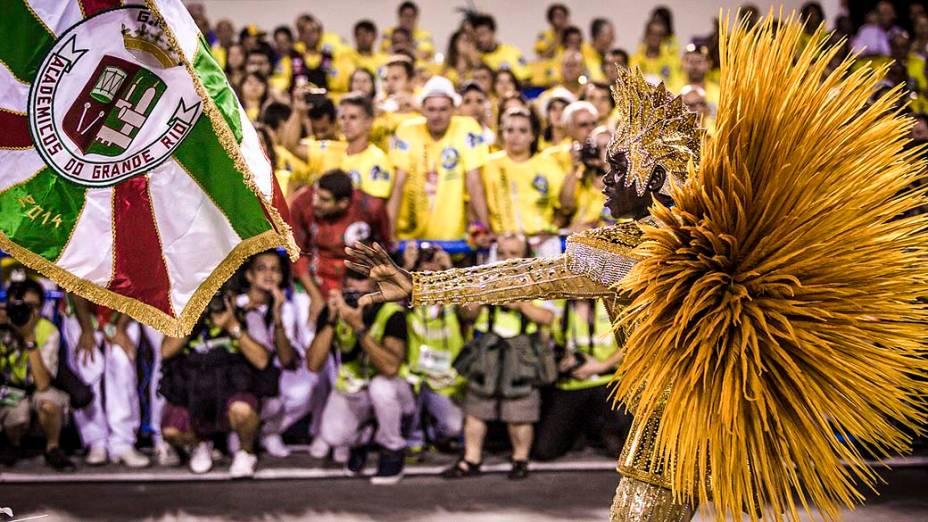 """Desfile da escola de samba Acadêmicos do Grande Rio com o samba enredo """"Verdes Olhos de Maysa Sobre o Mar, no Caminho: Marica"""", pelo Grupo Especial do Carnaval do Rio de Janeiro, no sambódromo de Marques da Sapucaí"""