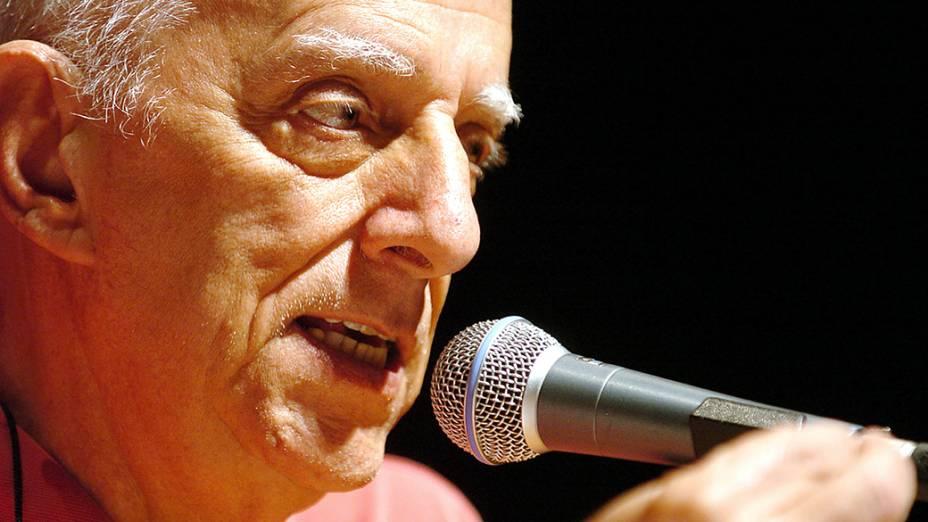 O escritorRubem Alves, emBelo Horizonte, Minas Gerais, em18/8/2005<br><br>
