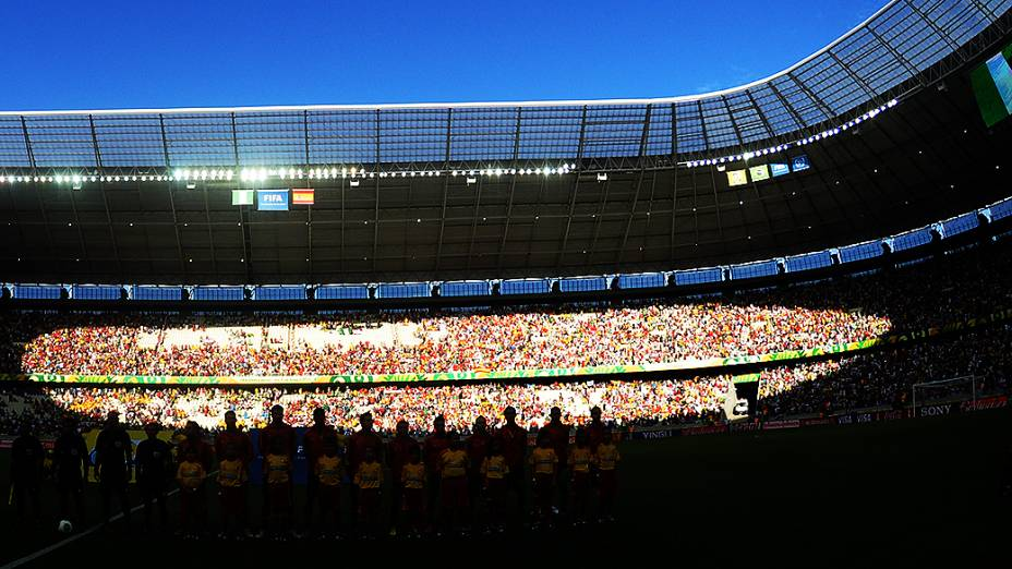 Arena Castelão recebe o jogo entre Nigéria e Espanha, pela Copa das Confederações, em Fortaleza
