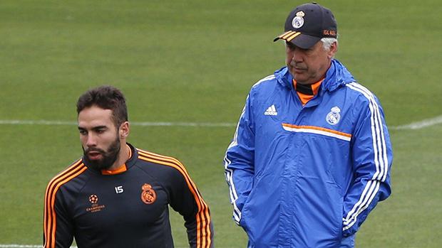 O técnico Carlo Ancelotti no centro de treinamentos do Real Madrid