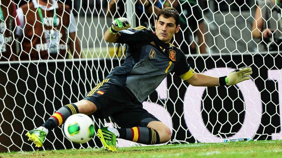 Cassilhas da Espanha durante jogo na Copa das Confederações no Brasil