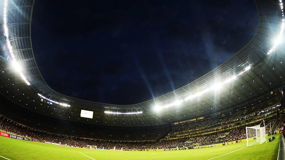 Jogo da semifinal entre Espanha e Itália, da Copa das Confederações, em Fortaleza
