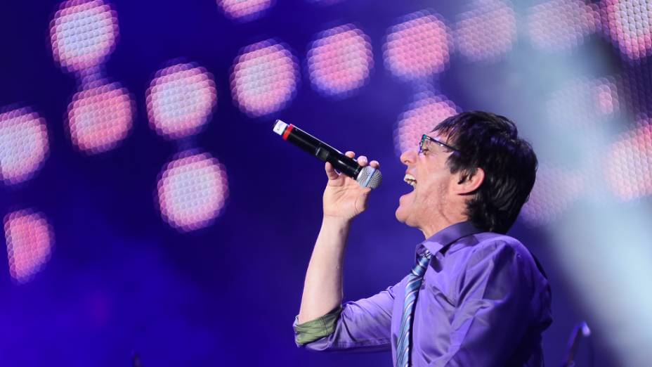 Cantor Paulo Miklos, durante show em homenagem ao cantor Cazuza, no Rock in Rio 2013