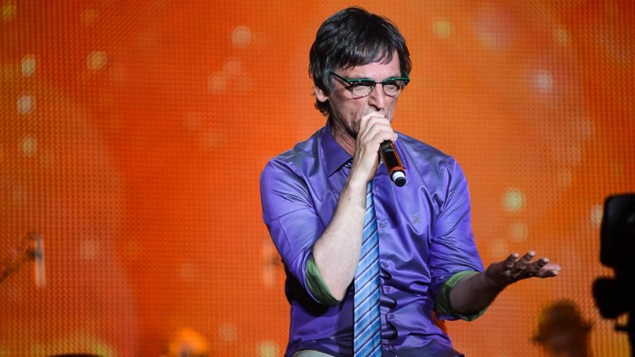 Cantor Paulo Miklos, durante show em homenagem ao cantor Cazuza, no Rock in Rio 2013
