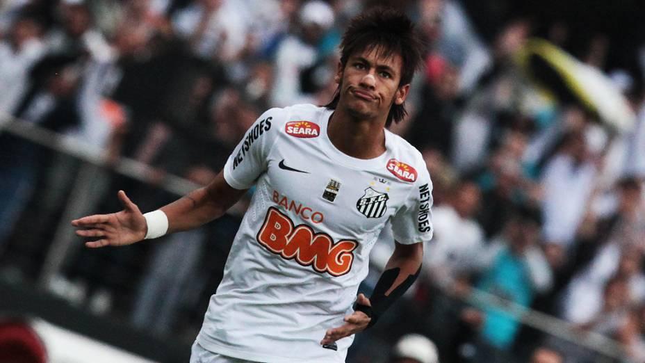 Neymar também fez o terceiro do Santos e o seu 108 com a camisa do clube alvinegro