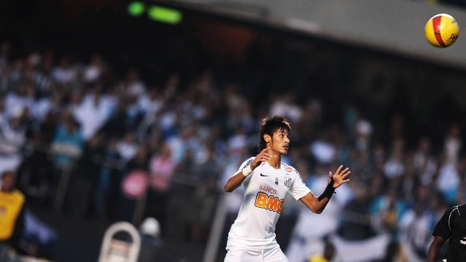 Lance da partida contra o Guarani, no estádio do Morumbi, em São Paulo<br>