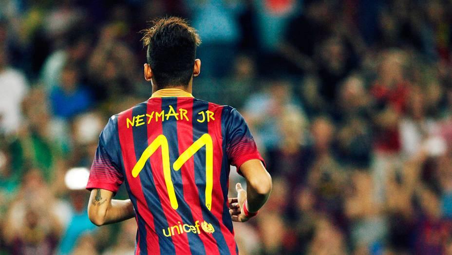 Os 81 mil torcedores queriam ver Neymar em campo...