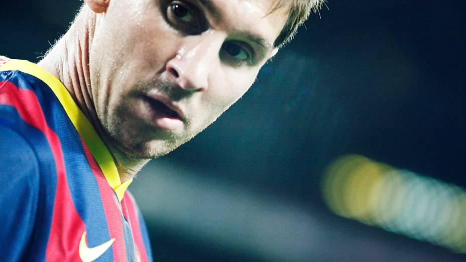 ...que vibrou com o início de jogo avassalador de Messi e companhia. Antes dos 30 minutos da etapa inicial, a partida já estava 4 a 0 para o Barça