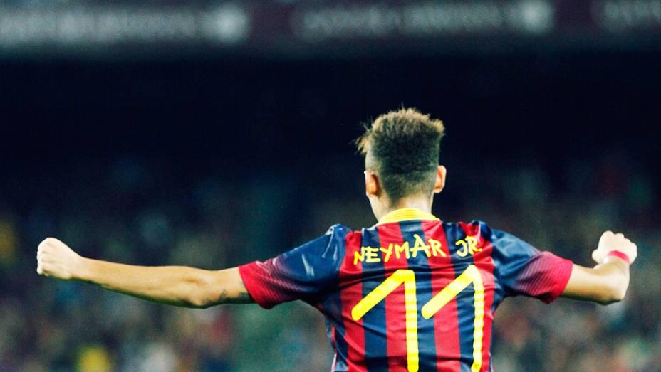 Neymar era a grande atração do Troféu Joan Gamper...