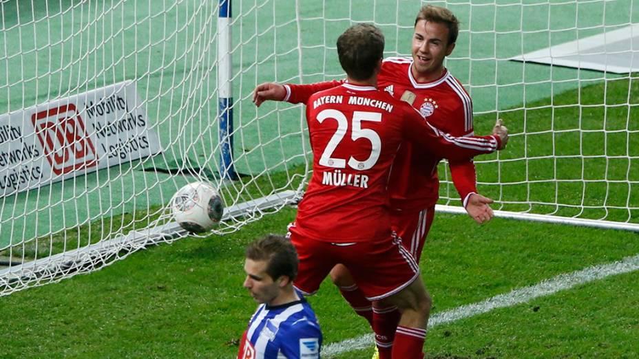Mario Götze foi campeão alemão pelo Bayern de Munique em 2014