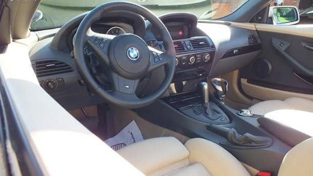 Interior da BMW que pertenceu ao ex-jogador David Beckham