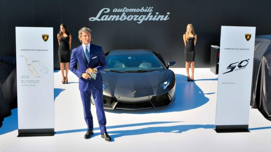 <br><br>  Stephan Winkelmann, CEO da Lamborghini, durante o anúncio das comemorações dos 50 anos da Lamborghini, em dezembro de 2012