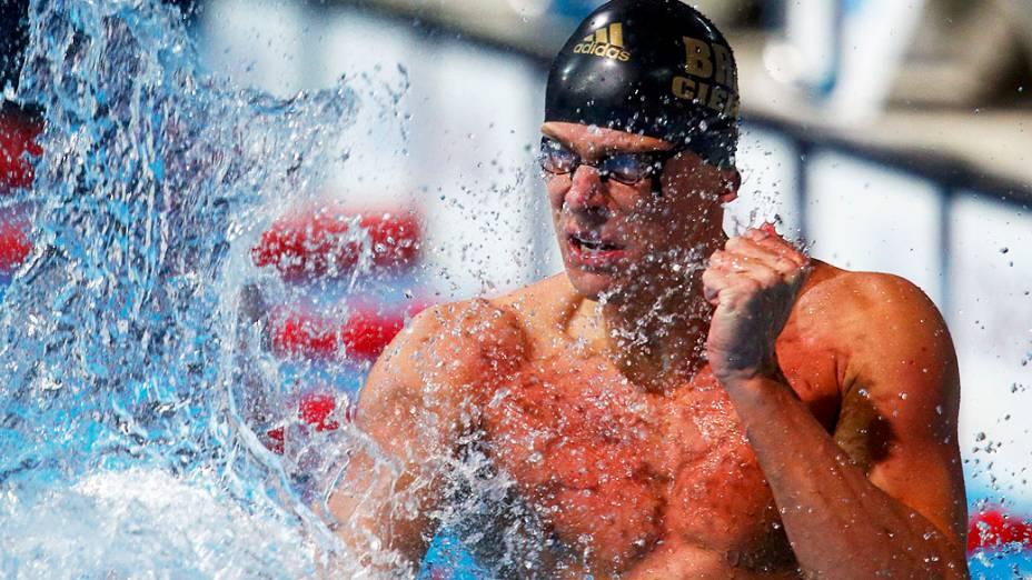 Campeão mundial dos 50 m livre em Barcelona no ano passado, Cielo representa o Minas Tênis Clube