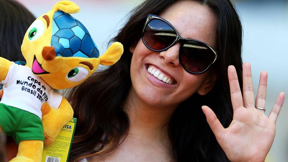 Torcida antes da partida entre Brasil e Uruguai válida pela semifinal da Copa das Confederações, no Estádio Mineirão, em Belo Horizonte
