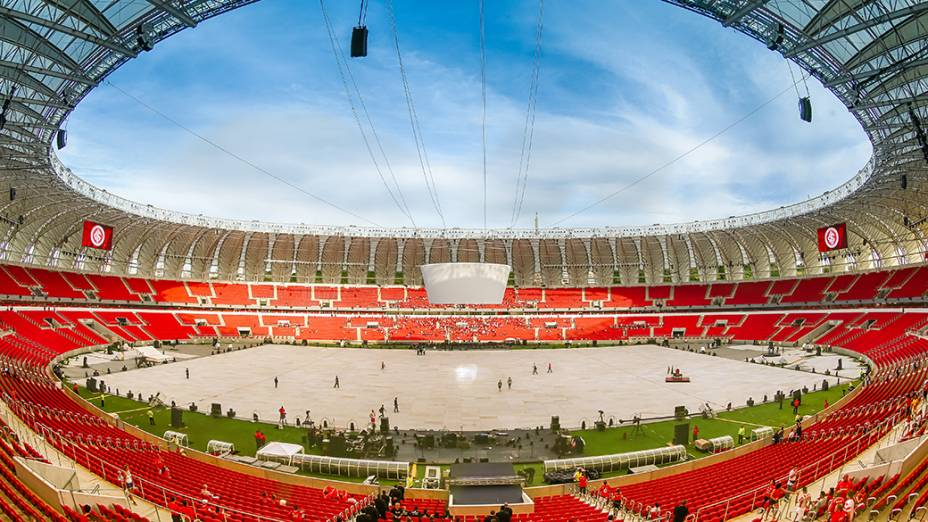 Vista interna do Beira-Rio momentos antes da Festa Gigante, neste sábado 05 de abril de 2014