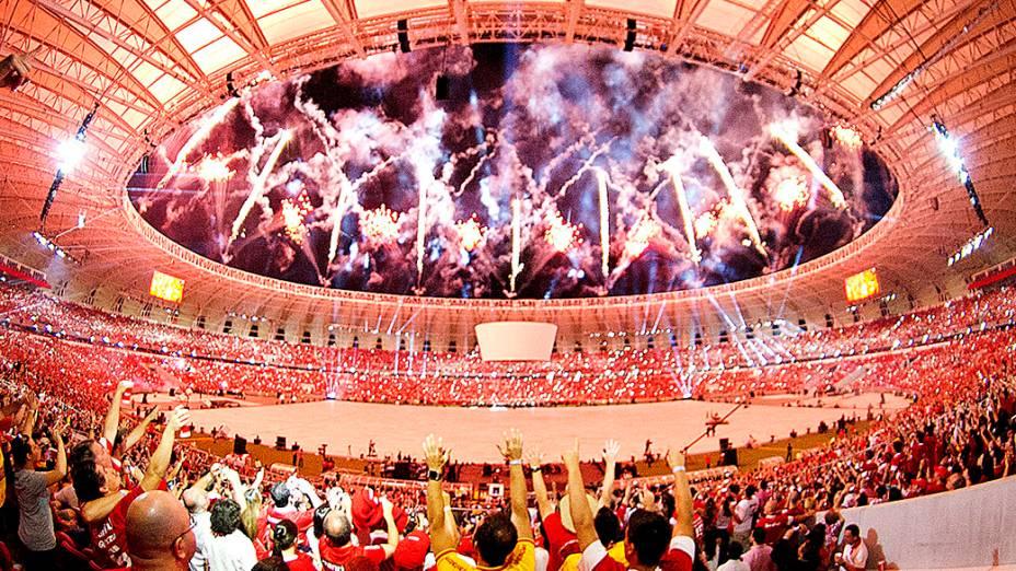 Festa de reinauguração do estádio Beira Rio que será palco de partidas da Copa do Mundo 2014