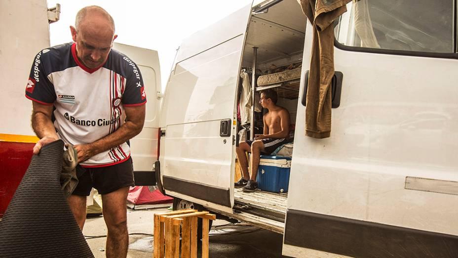 Torcedores acampados no Rio de Janeiro
