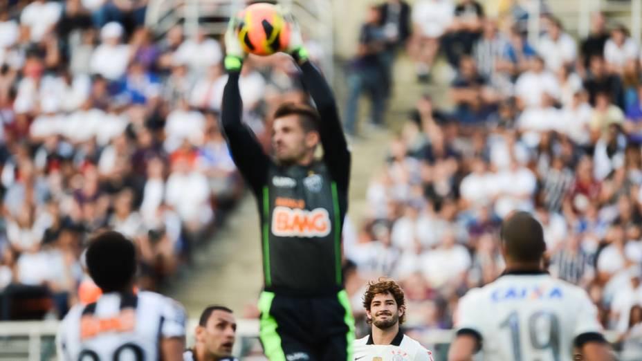 Vitória do Atlético Mineiro sobre o Corinthians, em partida válida pelo Campeonato Brasileiro 2013, no Pacaembu