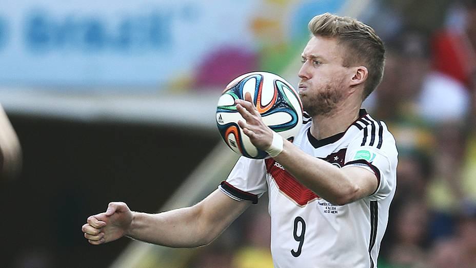 Schürrle, da Alemanha, durante o jogo contra a França no Maracanã, no Rio