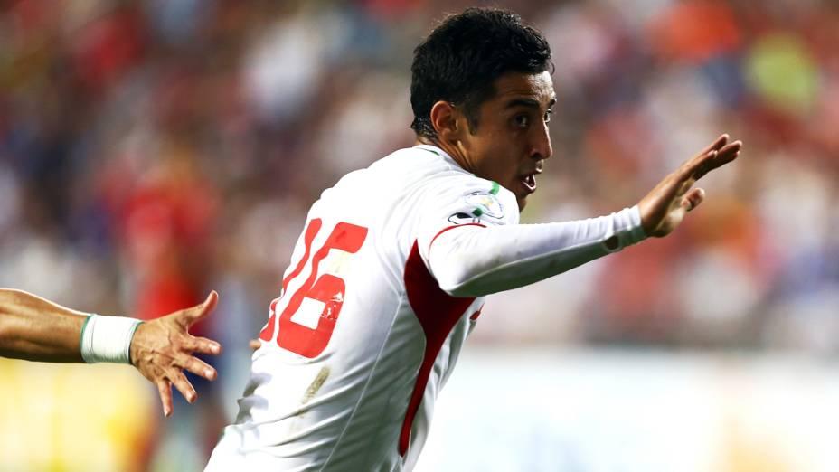Jogo entre Coreia do Sul e Irã no Estádio Munsu Cup, em Ulsan, Coréia do Sul