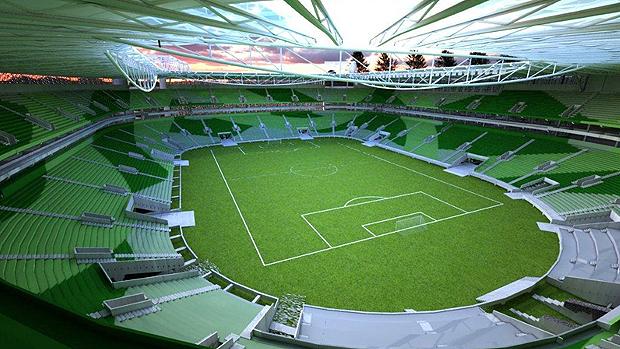 Allianz Parque terá três tons de verde nas cadeiras