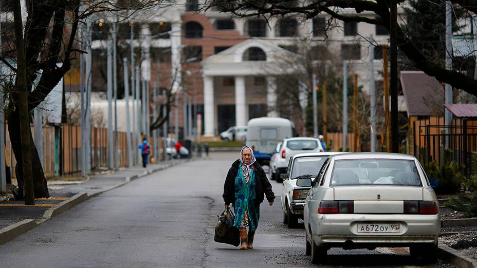 A vila de Krasnaya Polyana: ainda sem incomodar os moradores