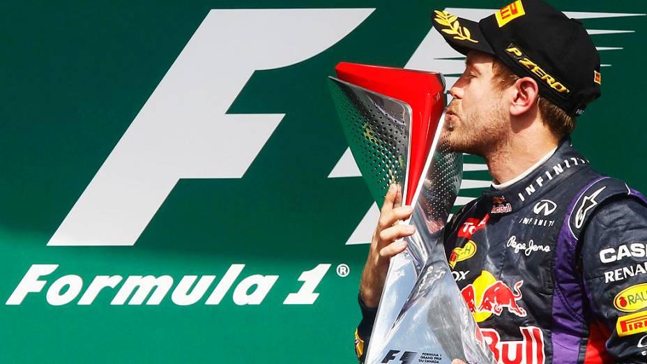 Sebastian Vettel venceu o GP do Canadá e disparou na liderança: 132 pontos, 36 à frente de Fernando Alonso, segundo colocado