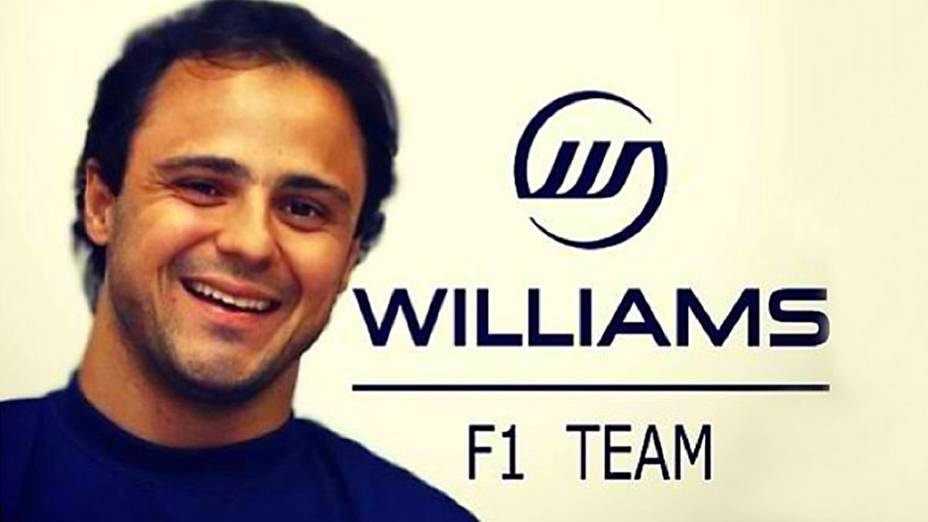 Felipe Massa publicou uma fotomontagem nas redes socias, logo após anunciar que vai correr pela Williams