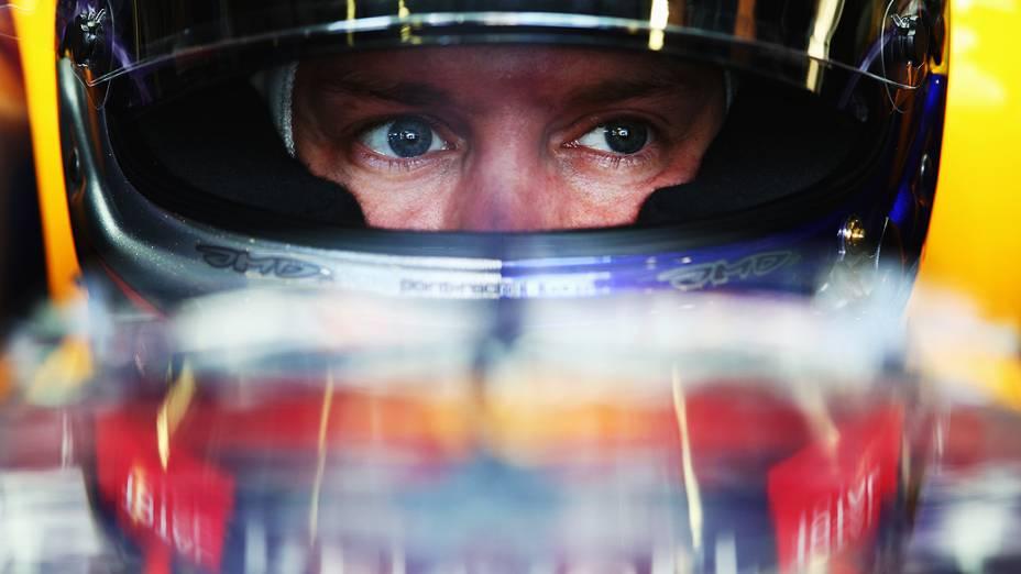 Sebastian Vettel durante sessão de treino do gp da Itália, no circuito de Monza