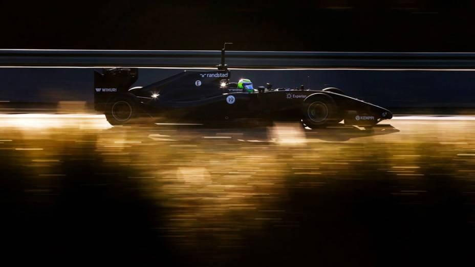 Felipe Massa, da Williams, durante o último dia de testes da Fórmula 1, em Jerez de La Frontera, na Espanha