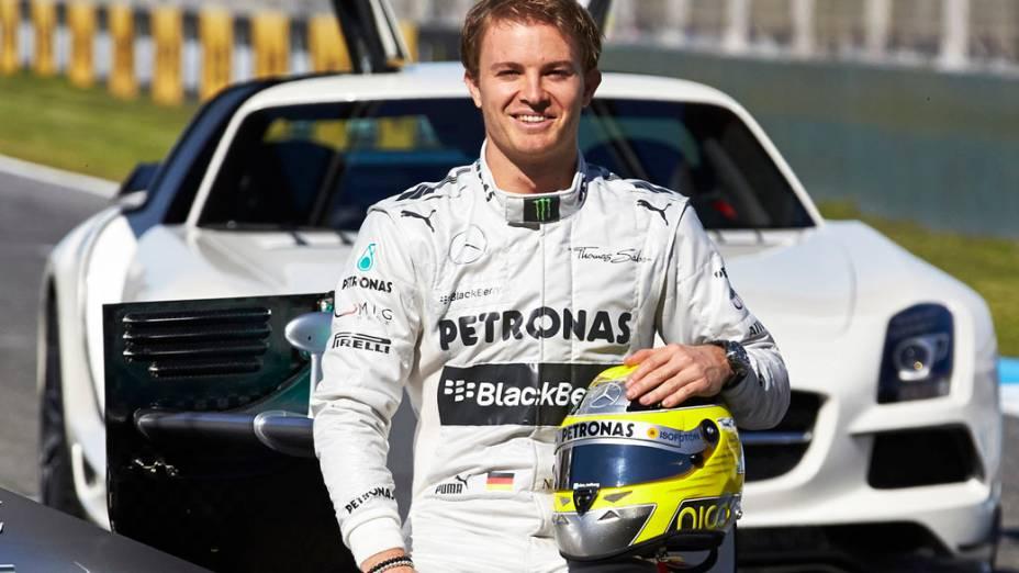 Nico Rosberg durante apresentação do novo Mercedes F1 W04